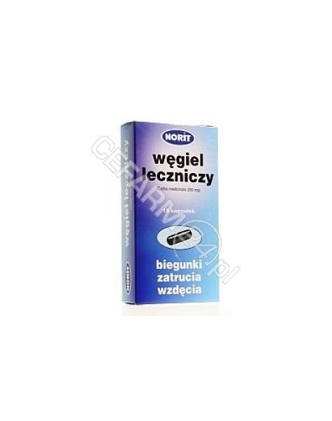 NORIT PHARMA Węgiel leczniczy (norit) 200 mg x 30 kaps