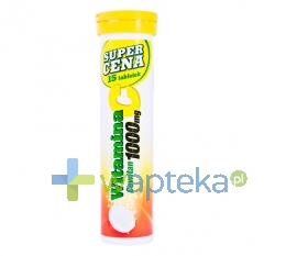 POLSKI LEK Witamina C 1000 mg CEWITAN smak cytrynowy 15 sztuk