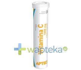 SYNOPTIS PHARMA SP. Z O.O. Witamina C 1000mg o smaku cytrynowym 20 tabletek APTEO