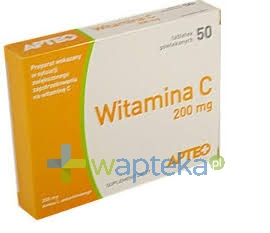 SYNOPTIS PHARMA SP. Z O.O. Witamina C APTEO 200mg 50 tabletek