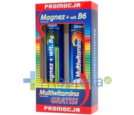 N.P.ZDROVIT SP Z O.O. ZDROVIT Magnezz Witaminą B6, 24 tabletki musujące + Multiwitamina, 20 tabletek musujących