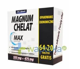 N.P.ZDROVIT SP Z O.O. Zdrovit Magnum Chelat Max 64 tabletki + 20 tabletek gratis