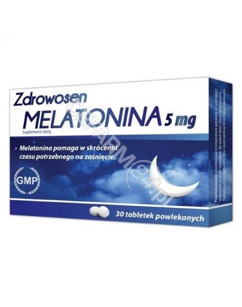NATUR PRODUK Zdrowosen melatonina x 30 tabletek powlekanych
