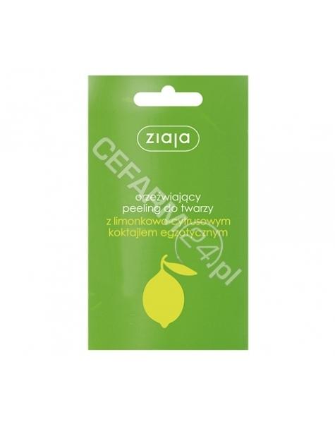 ZIAJA Ziaja Limonkowa - peeling do twarzy limonkowo-cytrusowy 7 ml (saszetka)