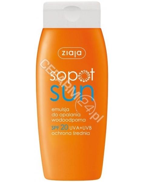ZIAJA Ziaja sopot sun - wodoodporna emulsja do opalania spf 20 150 ml