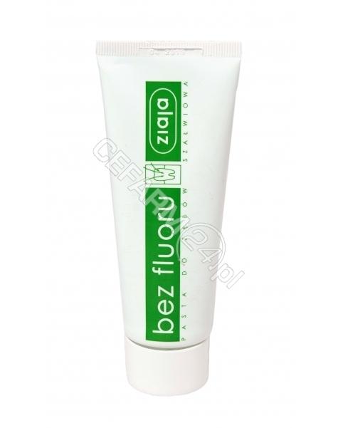 ZIAJA Ziaja szałwiowa pasta do zębów bez fluoru 75 ml