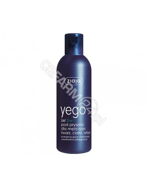ZIAJA Ziaja yego żel pod prysznic dla mężczyzn 3w1 twarz, ciało, włosy 300 ml