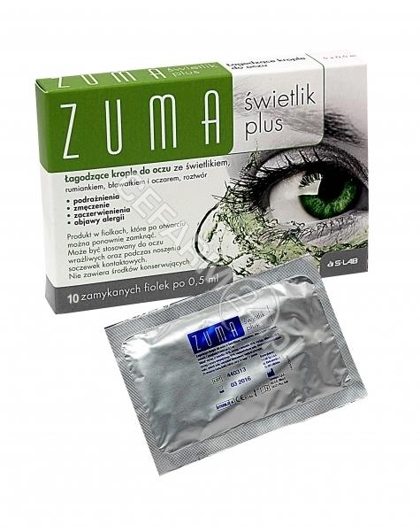 S-LAB Zuma świetlik plus krople do oczu 0,5 ml x 10 fiolek